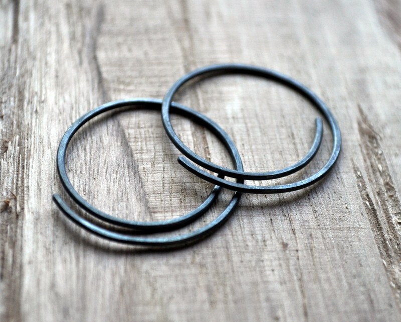 Half-Spiral Oxidised Urban Eco Earrings (7)