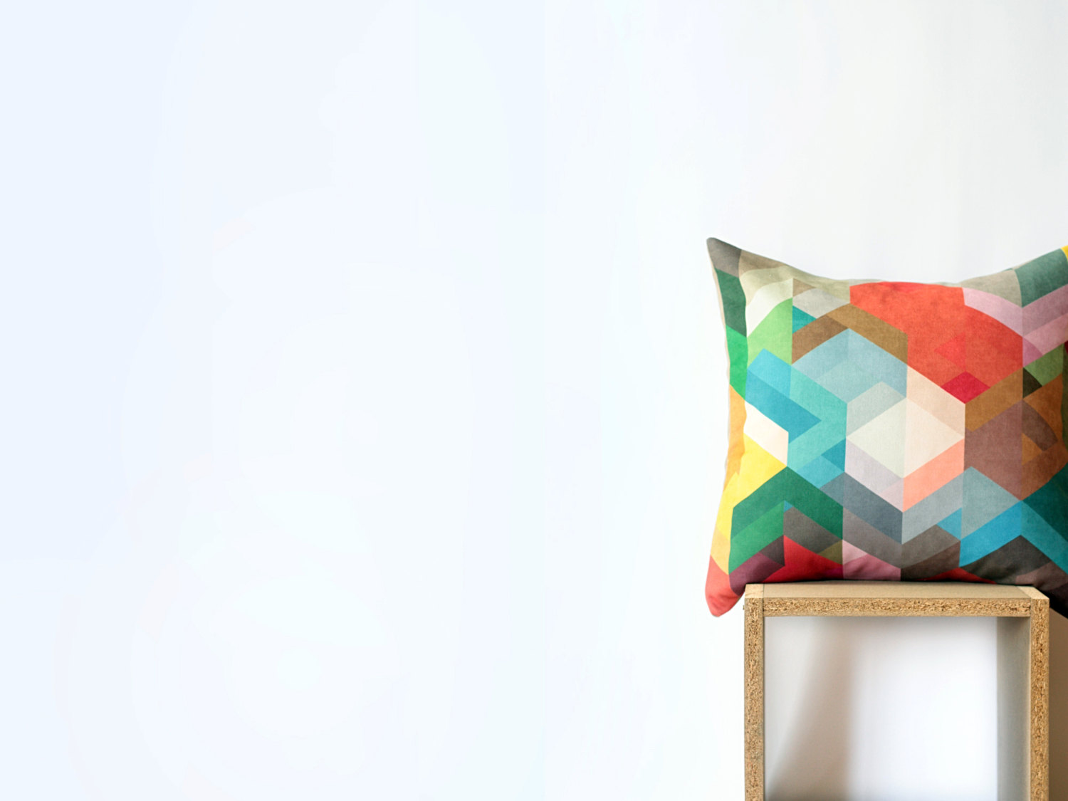Colourful Geometric Cushions by Nirwa