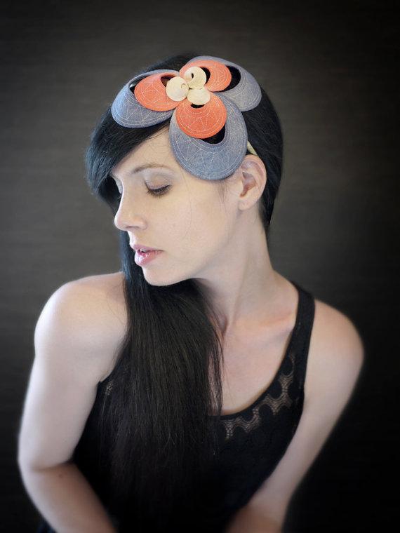 gorgeous felt headpiece handmade