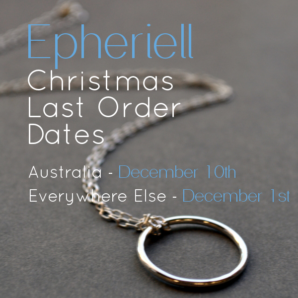 Epheriell Christmas Last Order Dates 2013