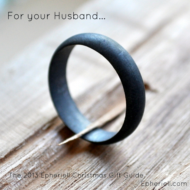 Men's Matte Oxidised Wedding Band (7)