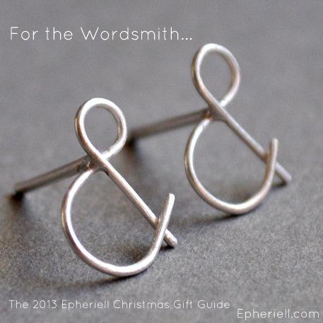 ampersand stud earrings