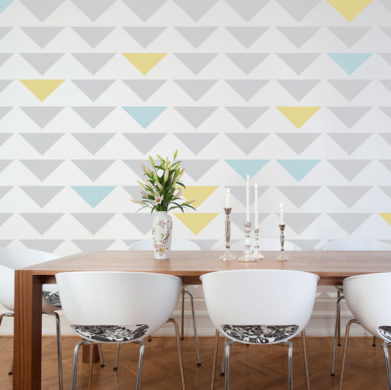 triangle wall stencil