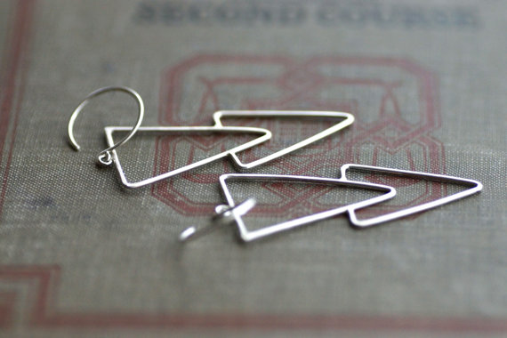 triangle earrings arrow