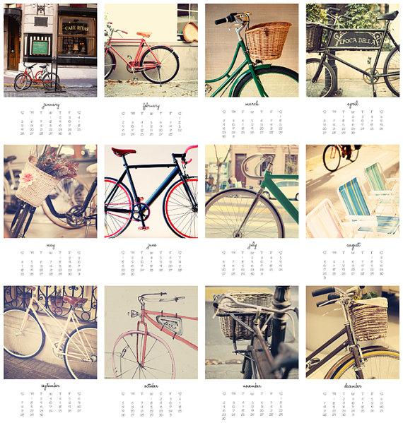 vintage bike calendar 2014