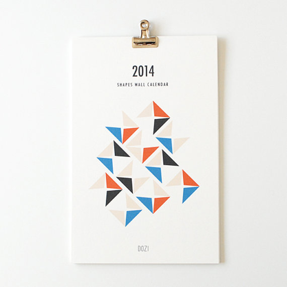 shapes 2014 wall calendar geometric