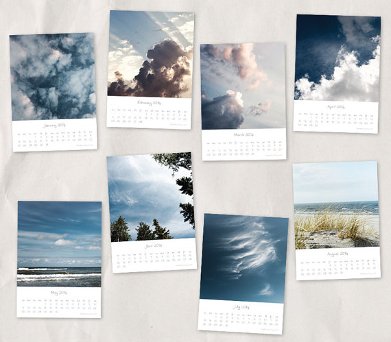 clouds sky and sea 2014 calendar