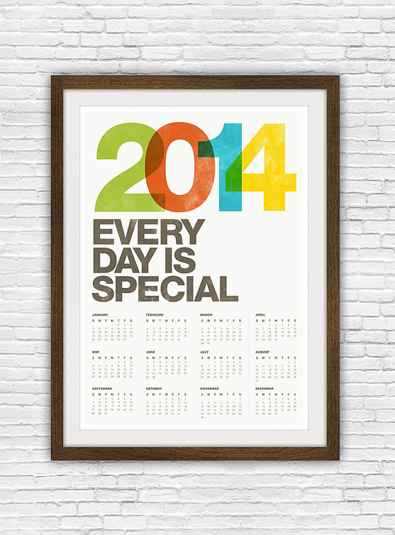 2014 calendar every day is special