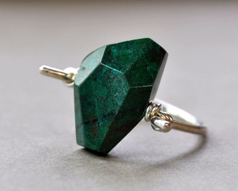 Chrysocolla Ring + Sterling Silver