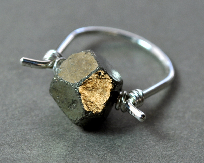 Pyrite Ring + sterling silver
