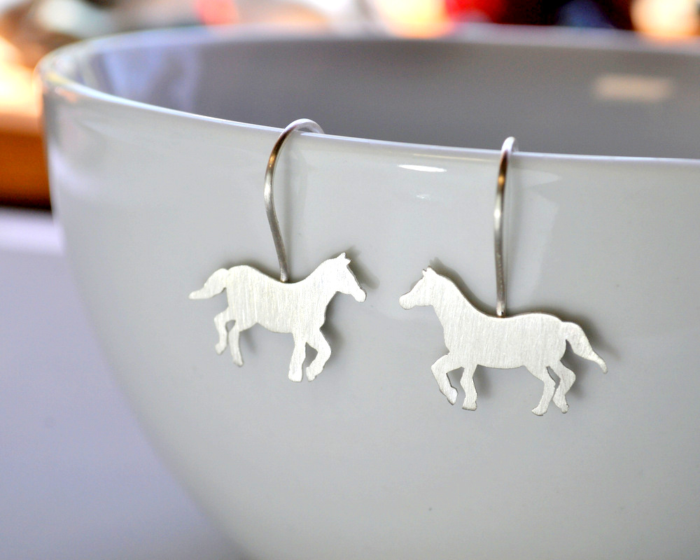 1-Custom Order - Sterling Silver Horse Necklace + Earrings (10)