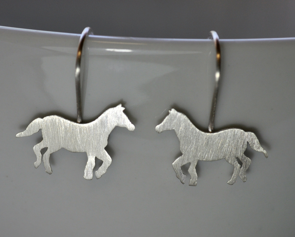 Custom Order - Sterling Silver Horse Necklace + Earrings (11)