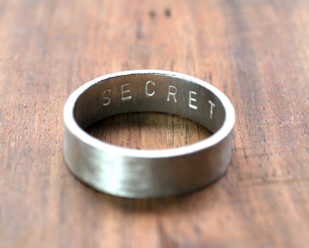 Secret Message Ring - Matte - 6mm (1)