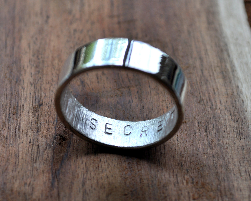 Secret Message Ring - Mirror Shine - 6mm (2)