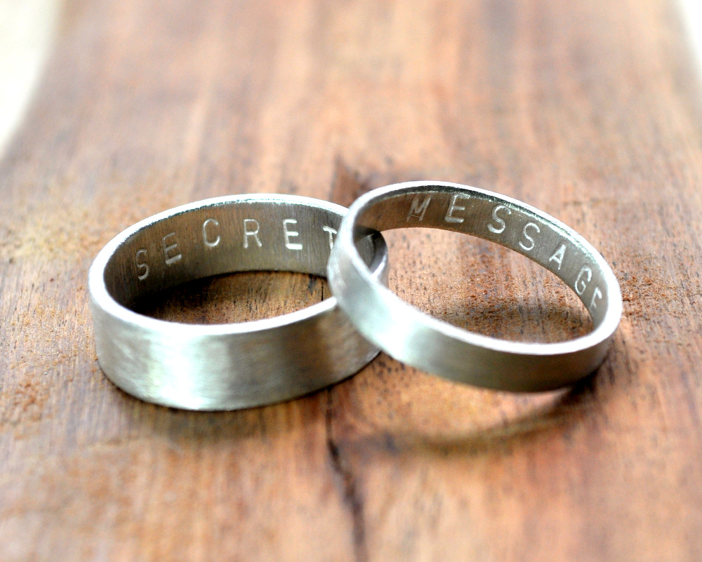 Secret Message Rings - Matte Finish - 6mm + 3 (2)