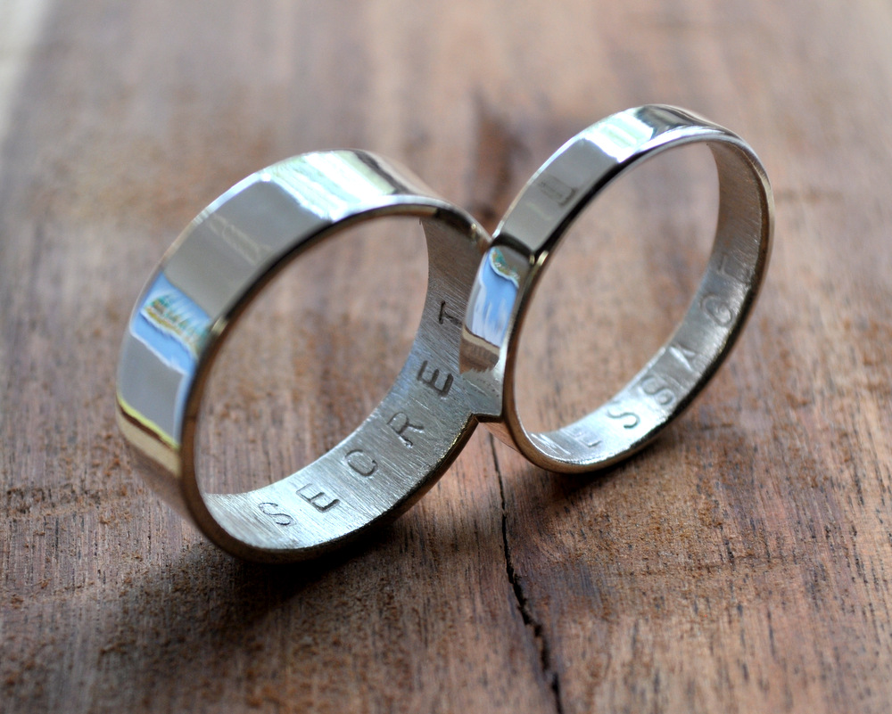 secret sterling hand in introducing stamped personalised silver bands message dsc rings