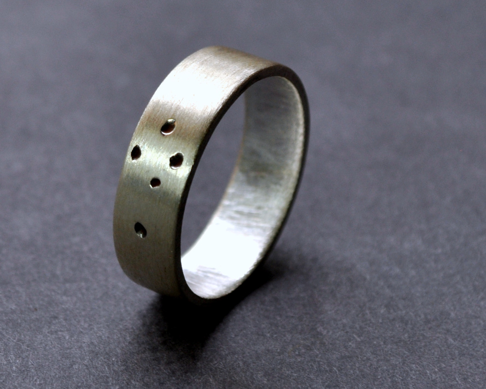 Southern Cross Ring - Sterling Silver - 5mm Flat Matte(2)