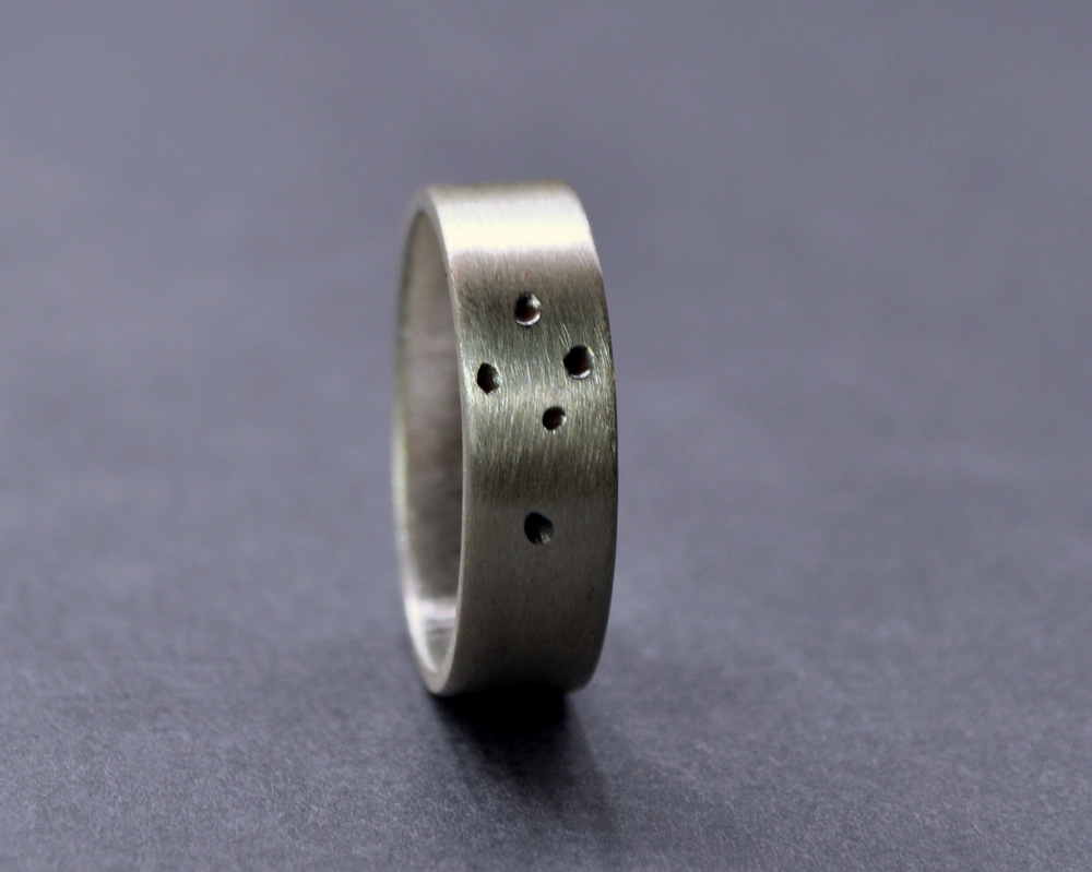 Southern Cross Ring - Sterling Silver - 5mm Flat Matte(4)