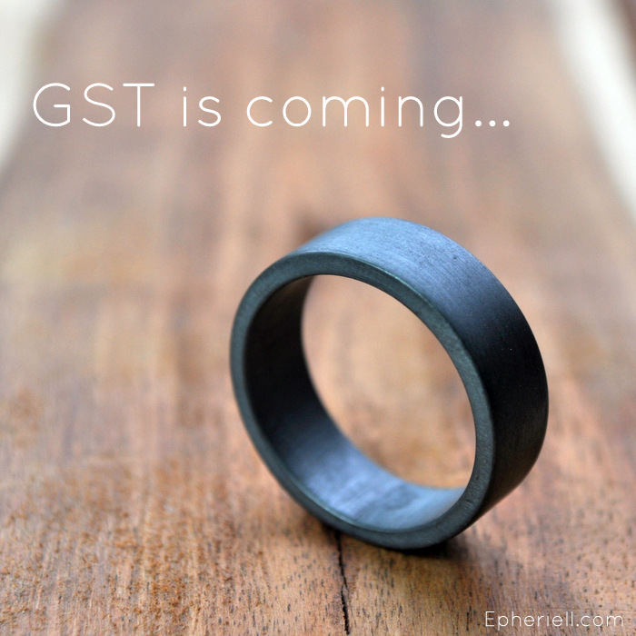 Aussies! GST will be added to all Epheriell purchases starting April 1st, 2014