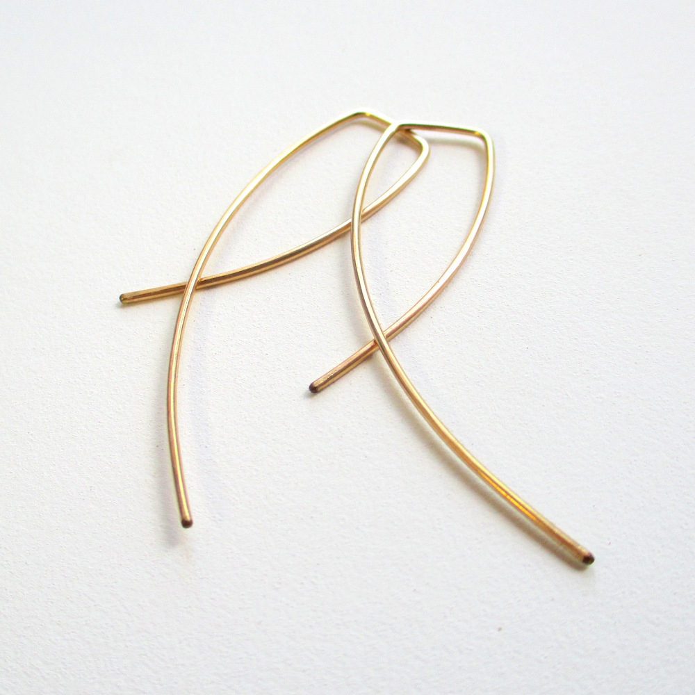 Gold OOAK Urban Eco Earrings - Entwined (1)