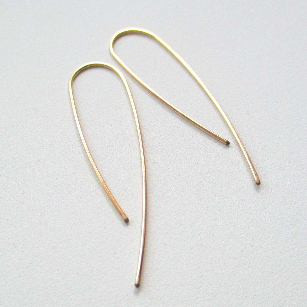 Gold OOAK Urban Eco Earrings - Swoop (2)