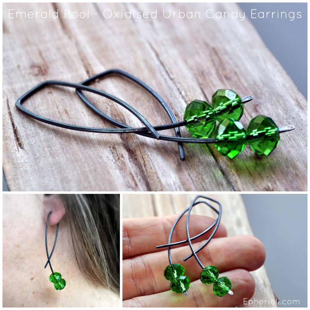 Emerald Pool – New Oxidised Urban Candy Earrings! (With Launch Discount…) #OXURBANCANDY