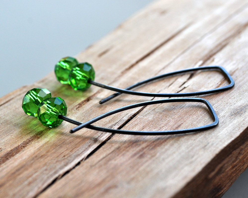 Emerald Pool - Oxidised Urban Candy Earrings - Entwined (3)