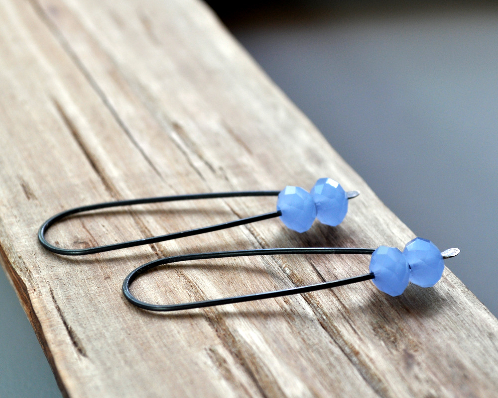 Glacier Blue - Oxidised Urban Candy Earrings - Swoop (2)