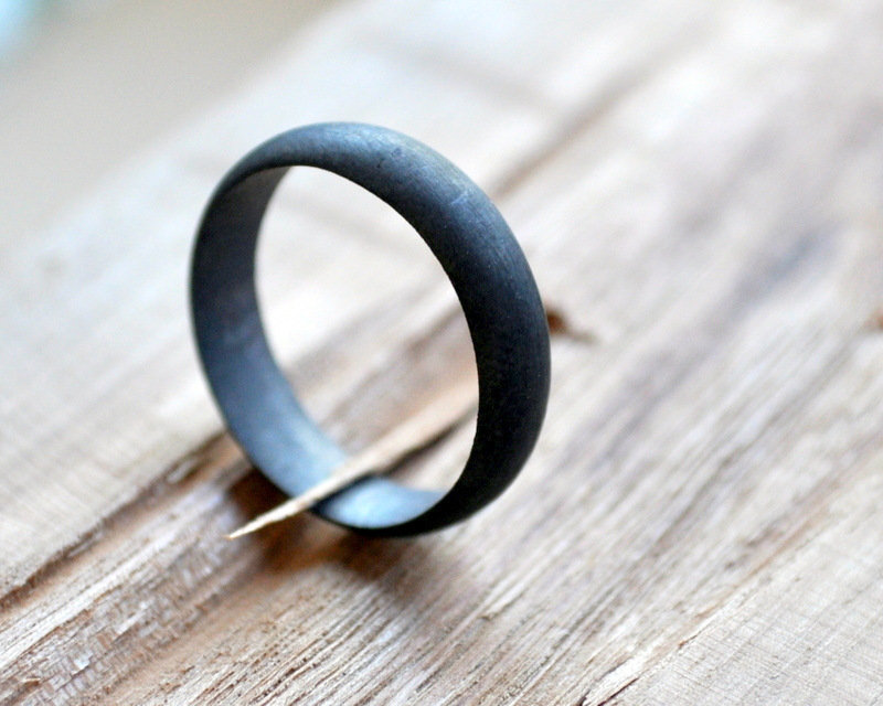 1-Men's Matte Oxidised Wedding Band (7)
