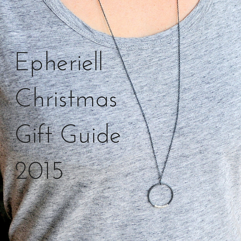 2015 Christmas Gift Guide Black Text
