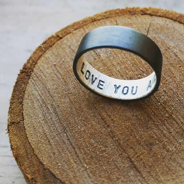 @Epheriell on Instagram - sterling silver oxidised secret message ring