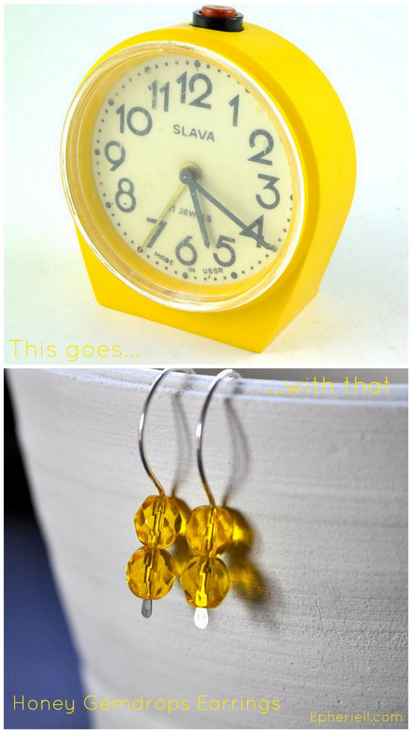 {This Goes With That} Honey Gemdrops Earrings