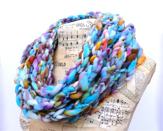 Gorgeous Hand-Knitted Chunky Scarves by Audrey Knitted
