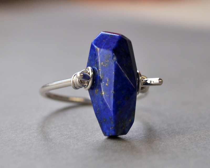 The Raw Earth Rough Faceted Gemstone + Sterling Silver Rings are BACK!