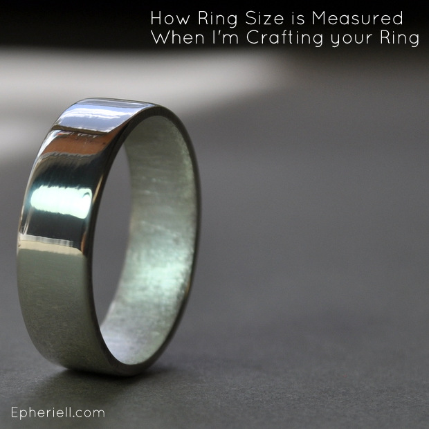How Ring Size is Measured When I'm Crafting your Ring
