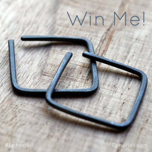 January 2014 Jewellery Giveaway – Oxidised Little Square Hoops