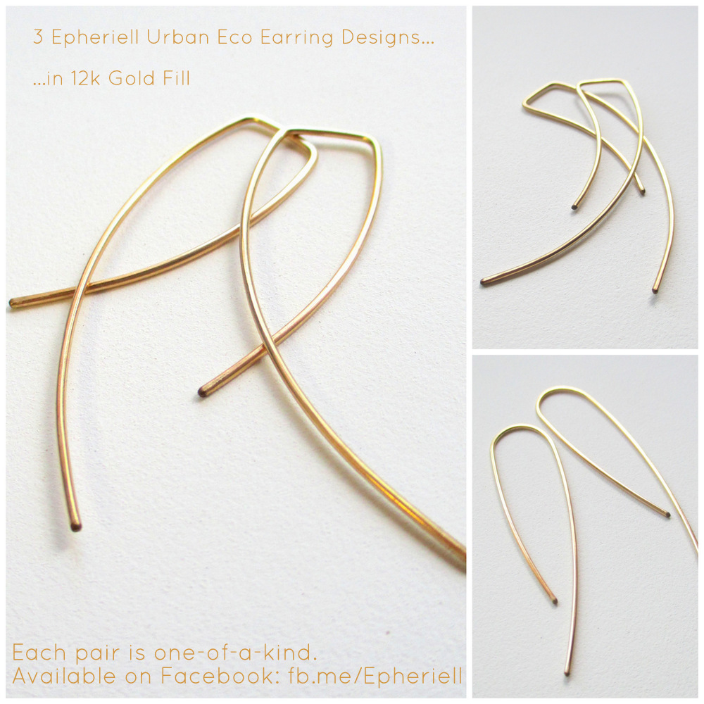 Epheriell Urban Eco Earrings… in GOLD!