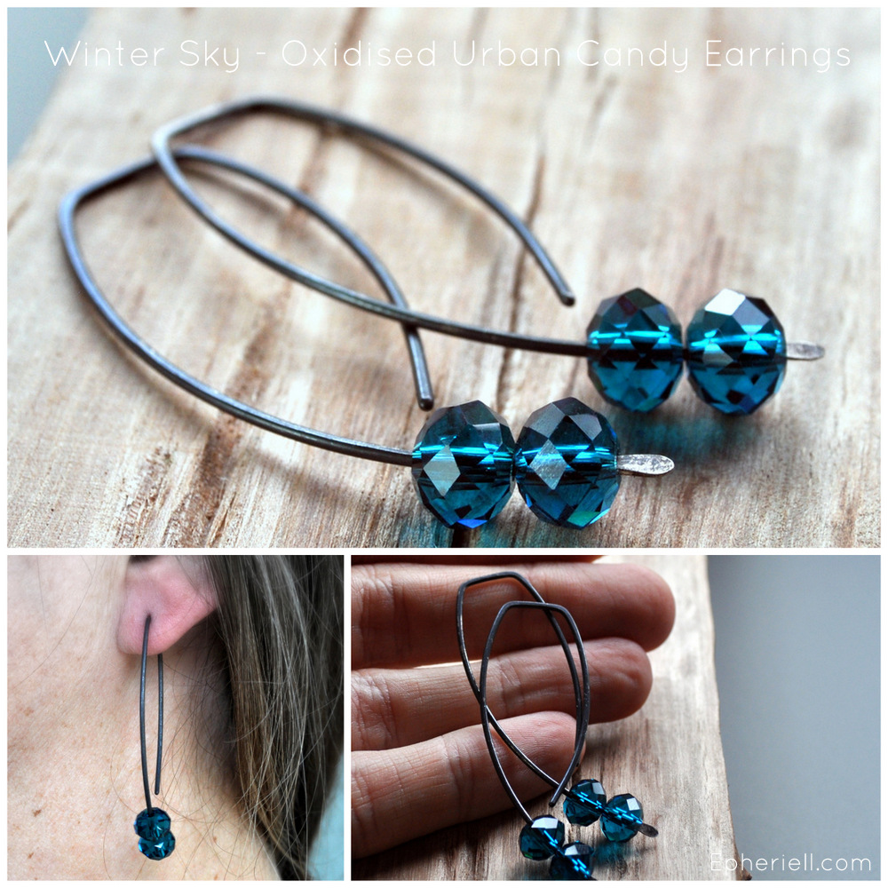 Winter Sky – New Oxidised Urban Candy Earrings! (With Launch Discount…) #OXURBANCANDY