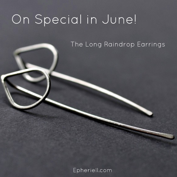 June Special 2014: The Long Raindrop Earrings