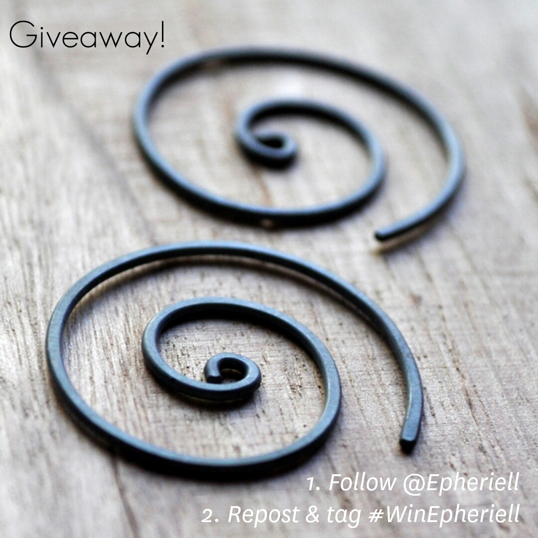 Instagram Giveaway! Win a Pair of Oxidised Spiral Earrings