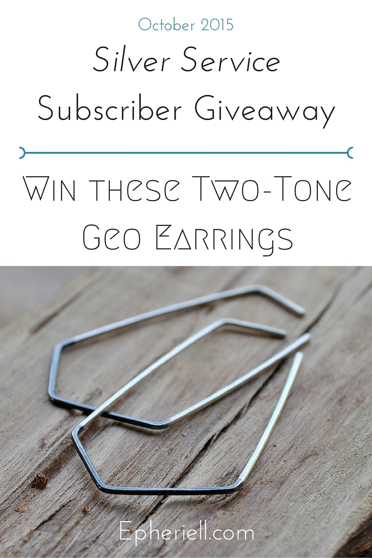 October 2015 Subscriber Giveaway – Two-Tone Geo Earrings