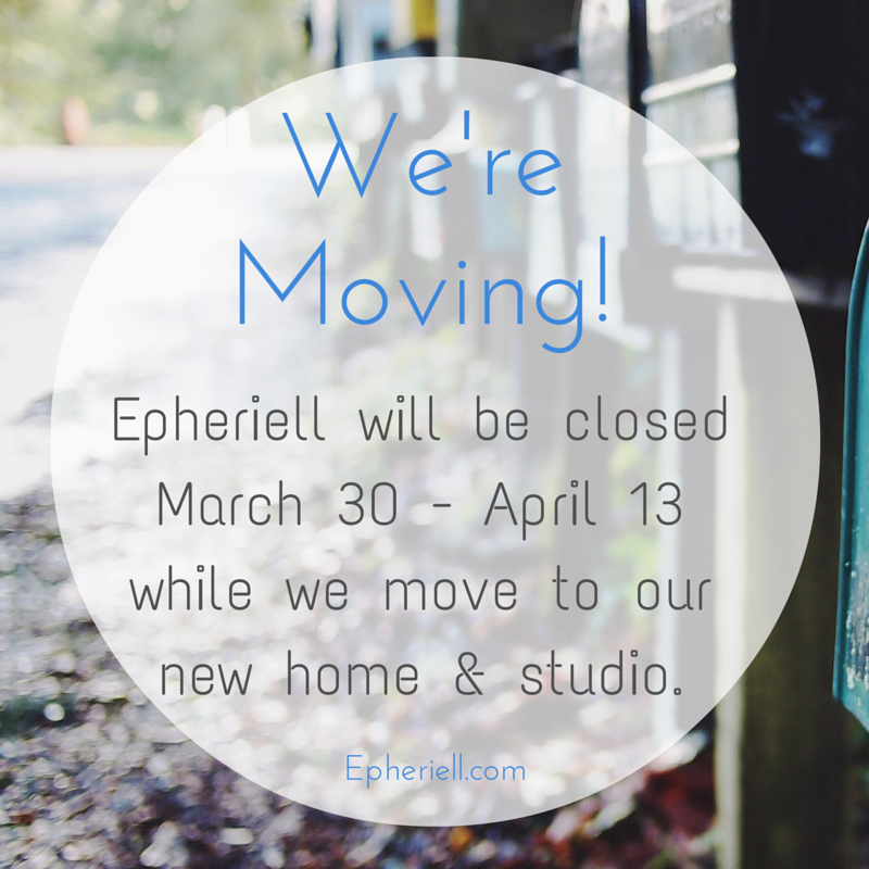 We're Moving! {Shop Closure March 30 – April 13}