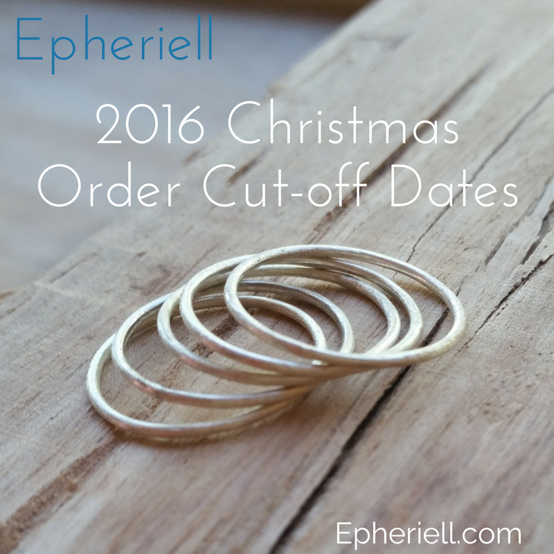 Christmas 2016 Cut-Off Dates for Ordering!