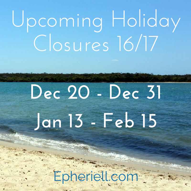 Upcoming Holiday Closures – 16/17