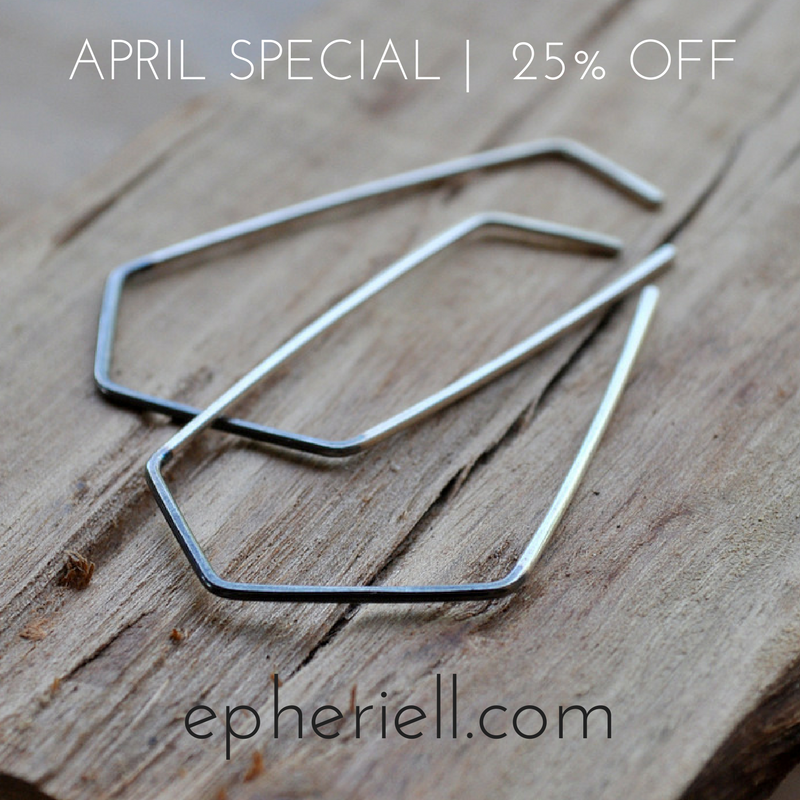 APRIL SPECIAL: Two-Tone Geo Earrings – 25% off!